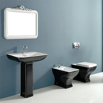 Włoskie wyposażenie łazienki Black and White od Vitruvit