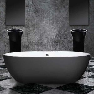 AQUAMASS Stone One Colour Touch Dark Grey Wanna