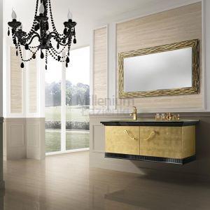 MIA ITALIA Venezia 05 Szafka wisząca z szklaną złotą umywalką