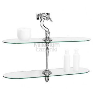 CIPI Uncuno 69 Podwójna półka łazienkowa szklana