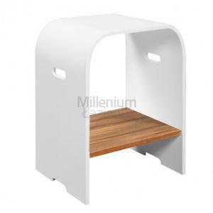 CIPI WD Stool Teak 83C Stołek łazienkowy z kompozytu i drewna