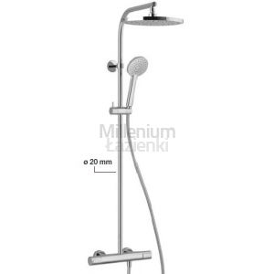 ALPI Glam GL62RP2151 Kolumna prysznicowa termostatyczna ścienna