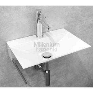 COMPONENDO Minimal Umywalka ze stali nierdzewnej biała