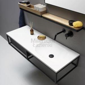 EXT Frame5 Umywalka wisząca z czarnym stelażem i szufladą