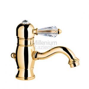 FIR ITALIA Melrose 71141051300 Armatura umywalkowa złota Swarovski