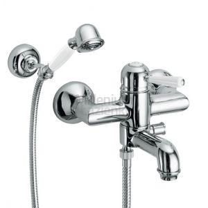FIR ITALIA Melrose 7133132 Bateria wannowa z prysznicem ścienna