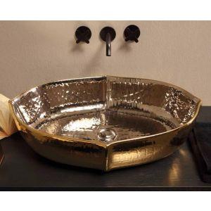 VITRUVIT Oyster OYSLAAELPIGE Umywalka blatowa złoto platynowa