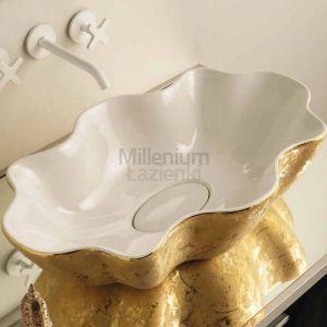 VITRUVIT Seastar SEALAAUWIPE Umywalka blatowa biało złota