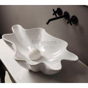 VITRUVIT Shell SHELLAA Oryginalna umywalka nablatowa biała