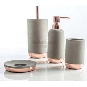 CIPI ITALY Copper Cement Mydelniczka, kubek, szczotka wc, dozownik