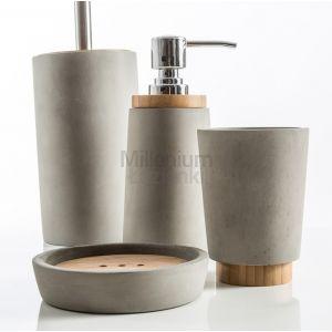 CIPI ITALY New Cement Mydelniczka, kubek, szczotka wc, dozownik
