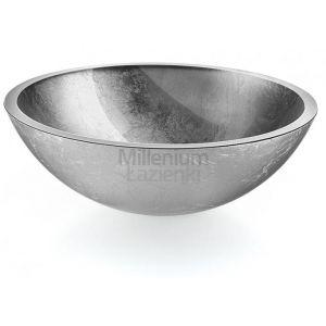 LINEABETA Acquaio 536962929 Umywalka nablatowa ze szkła srebrna