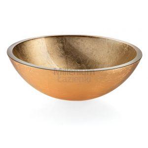 LINEABETA Acquaio 536962930 Umywalka nablatowa ze szkła złota
