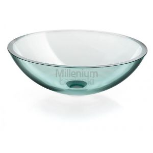 LINEABETA Acquaio 536962980 Umywalka nablatowa ze szkła transparentna