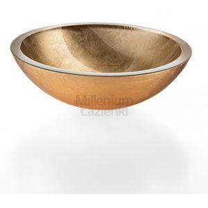 LINEABETA Acquaio 536952930 Umywalka nablatowa ze szkła złota