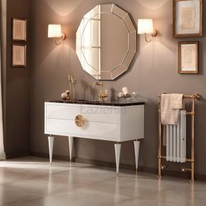 MIA ITALIA Novecento 07 Szafka łazienkowa z blatem z marmuru