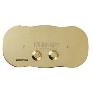 SBORDONI SB070 Przycisk spłukujący chrom, złoty, brąz, mosiądz, nikiel, miedź