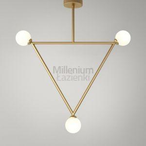 ARETI Triangle3 Lampa sufitowa czarna, biała lub mosiądz