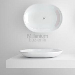 TECHNOVA Oval Nowoczesna owalna umywalka kompozytowa