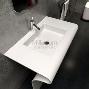 COMPONENDO Sedici Comp2 Umywalka z kompozytu stojąca biała