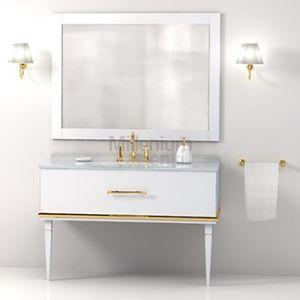 IL TEMPO DEL Easy Konsola umywalkowa biała złota