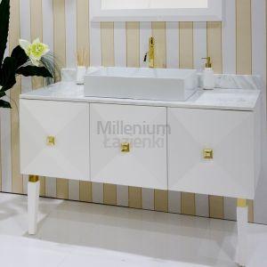 IL TEMPO DEL Diamond Konsola umywalkowa biała złota