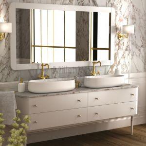 IL TEMPO DEL Suite Podwójna konsola umywalkowa z blatem marmurowym