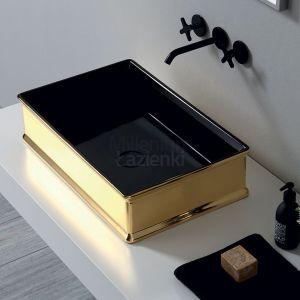 VITRUVIT Charme CHARMLAABIGE Czarno złota umywalka nablatowa