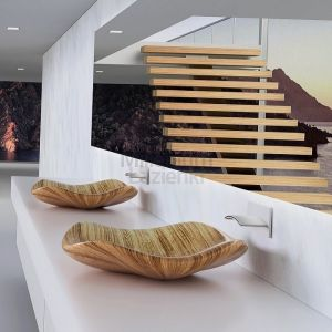 QINN DESIGN Kuala Umywalka z litego drewna
