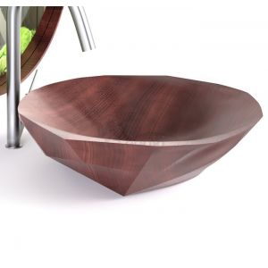 QINN DESIGN Baku Umywalka z litego drewna