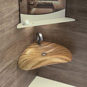 QINN DESIGN Alaya Umywalka narożna z litego drewna