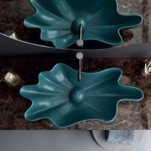 VITRUVIT Shell Nietypowa umywalka w kolorze Ocean Jasper