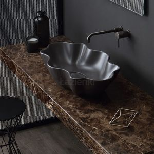 VITRUVIT Seastar Oryginalna umywalka nablatowa Grey Agate