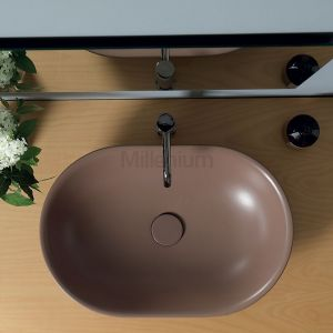 VITRUVIT Mild Włoska owalna umywalka nablatowa kolor Taos