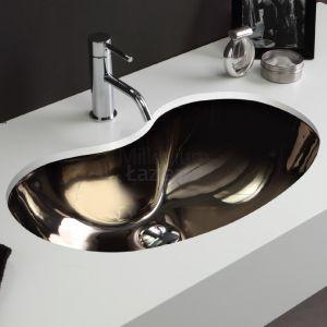 VITRUVIT Sagomato Oryginalna podblatowa umywalka platynowa lub złota