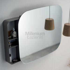 EXT Ray Białe lub szare lustro z ukrytą półką na kosmetyki