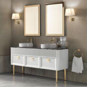 MIA ITALIA Atelier 06 Szafka stojąca z dwiema umywalkami