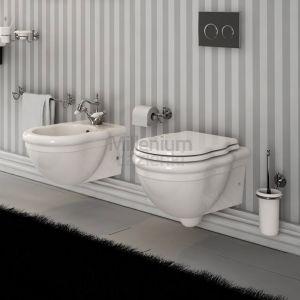 HIDRA CERAMICA Ellade DW10 Miska wc wisząca retro biała
