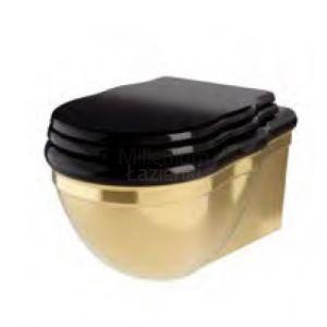 HIDRA CERAMICA Ellade DW10 Miska wc wisząca retro czarno złota