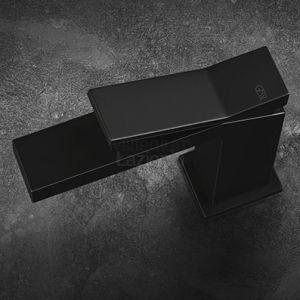 GESSI Rettangolo K 53002 Bateria umywalkowa czarna