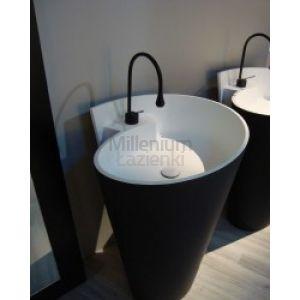 MASTELLA DESIGN Kon Umywalka wolnostojąca czarna biała