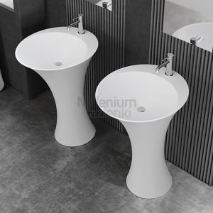 MASTELLA DESIGN Hilton Umywalka wolnostojąca podłogowa biała