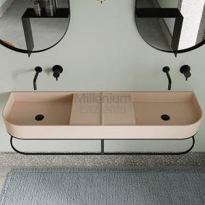 EXT Nouveau Włoska umywalka nablatowa jasny różowy 70 cm