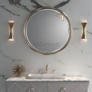 MIA ITALIA ParkAvenue Ekskluzywne okrągłe lustro złote lub chrom