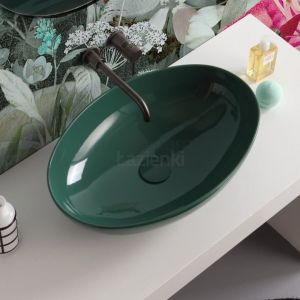 VITRUVIT Vessel Emerald Umywalka blatowa owalna