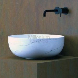 HIDRA CERAMICA Sphere Umywalka biała marmur o wysokości 17 lub 22 cm