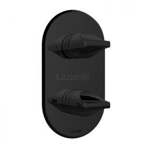 BOSSINI Apice Z00500 Bateria prysznicowa termostatyczna czarna matowa