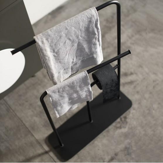 Ext Gru Wieszak łazienkowy Stojący Czarny Ekskluzywne Wyposażenie